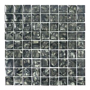 VETROLUSSO-N 3x3 nero glzd. 30x30x0,8