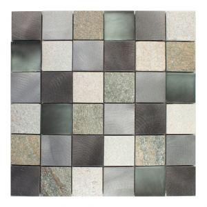 4,8x4,8 MIX-QUARZO-1 grigio 30x30x0,8