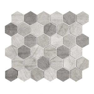Mosaico ESAGONA-1 antr./bianco/grigio 30x26x0,8