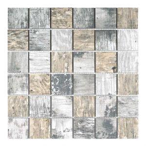 Mosaico VINTAGE-3 grigio/noce 4,8x4,8 30x30x0,8