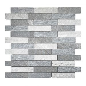 Mosaico MURO ARDESIA-1 antracite/bianco/grigio