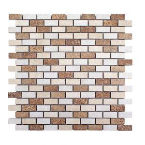 Mosaico BRICK TERRENO bianco/beige/cotto