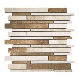 Mosaico MULTI TERRENO bianco/beige/cotto 30x30x0,9