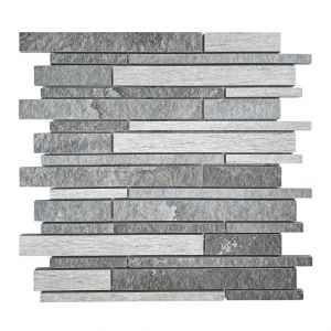 Mosaico MULTI ARDESIA-1 antracite/bianco/grigio
