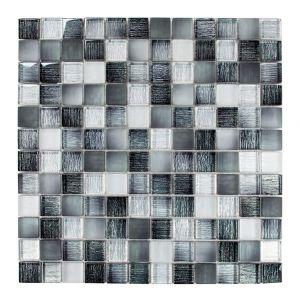 2,3x2,3 LINO-1 nero glzd/matt 30x30x0,8