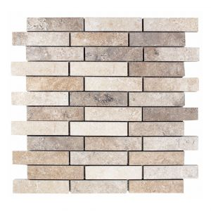 Mosaico MURO TRAVERTINO chiaro/noce 30x30x0,9